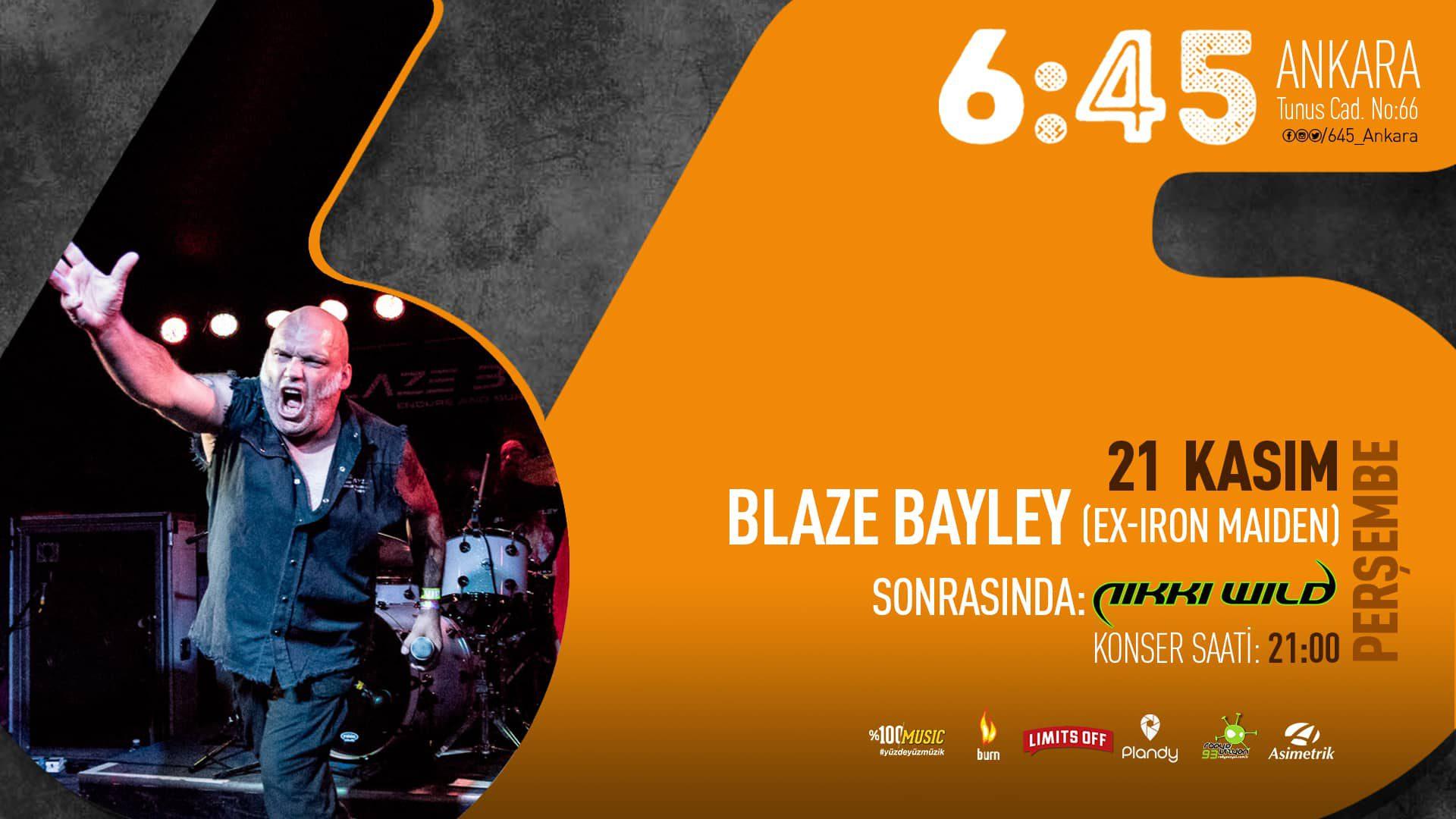 Blaze Bayley (Ex-Iron Maiden) | 6:45 Ankara