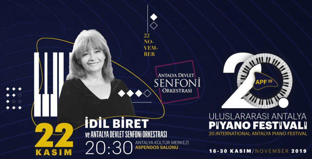İdil Biret - Antalya Devlet Senfoni Orkestrası   20. Uluslararası Antalya Piyano Festivali