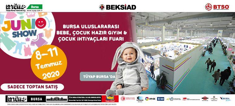 Junioshow Bursa Uluslararası Bebe, Çocuk Hazır Giyim ve Çocuk İhtiyaçları Fuarı 2020